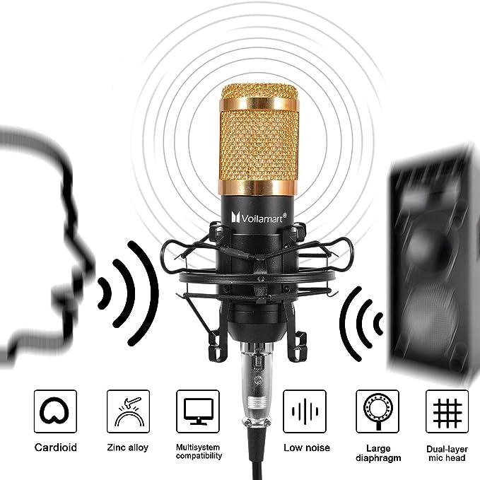 BM-800 Kondensator Mikrofon Kit Komplett Microphone Set für Studio Aufnahme DHL