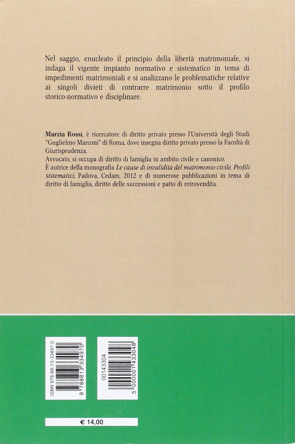 El Matrimonio Romano Monografias : Le condizioni limitative della libertà di contrarre matrimonio