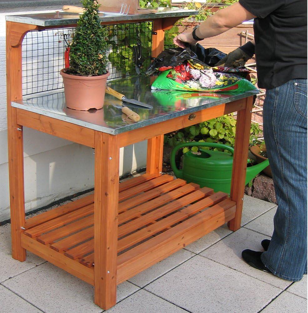 Mesa con encimera de Zinc para Jardines HABAU 695-FSC