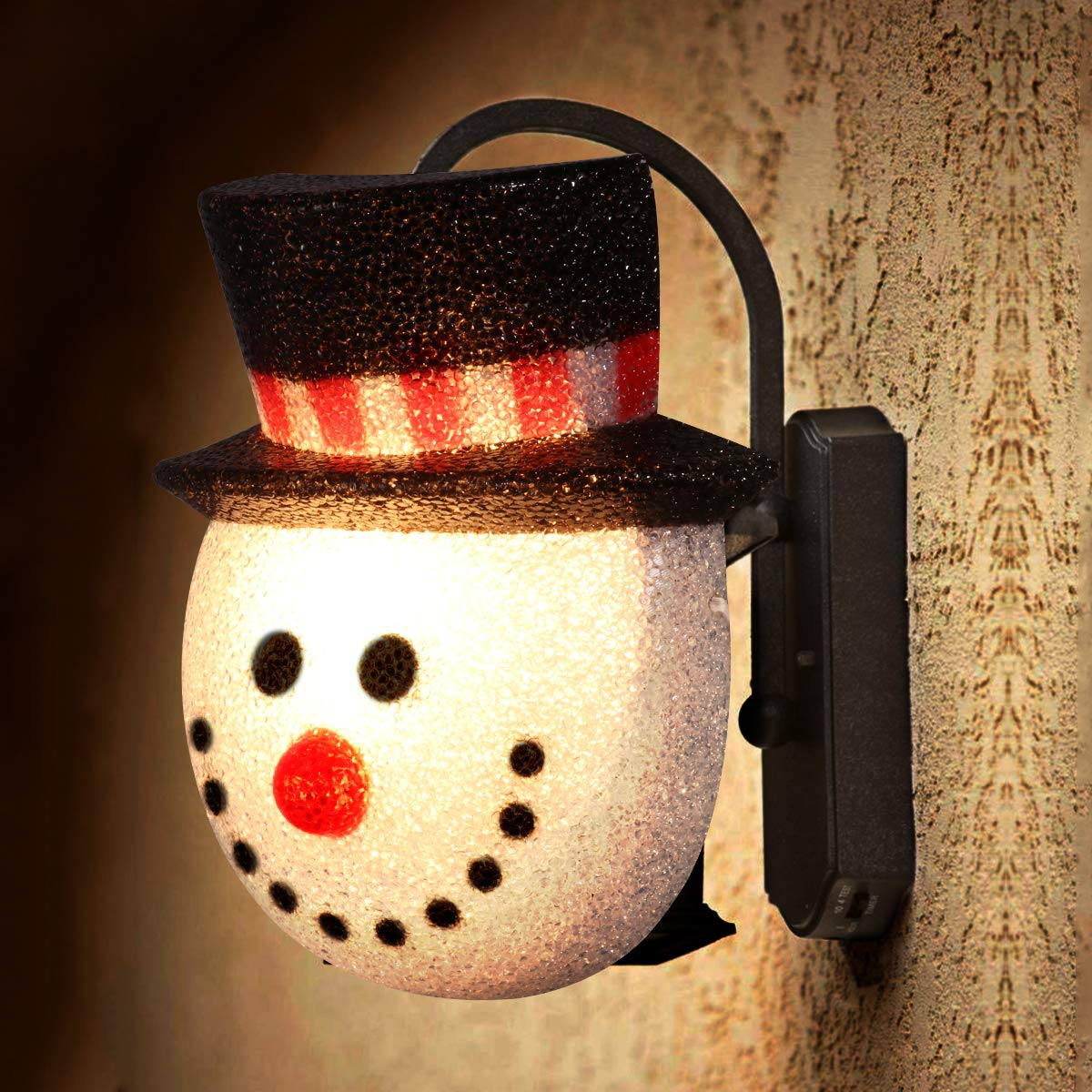 2 Pack Christmas Snowman Porch Light Covers Christmas Holiday Decoration for Outdoor Wall 12''x9.5''x6''