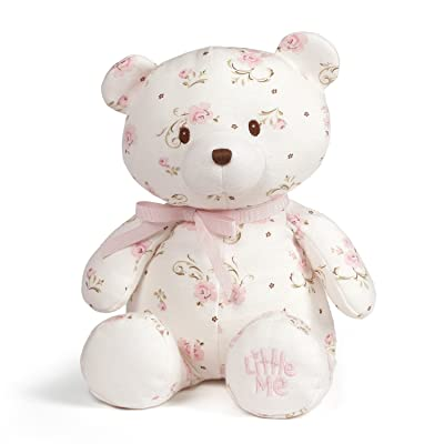 "Baby GUND x Little Me Vintage Rose Teddy Bear Plush Stuffed Animal, 10"": Toys & Games"