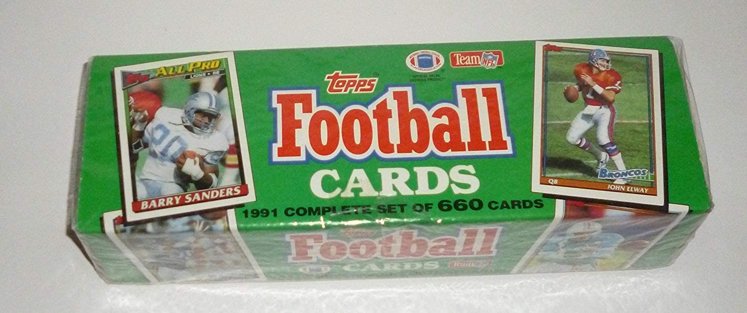 B000CSGYU0 1991 Topps NFL Football Cards Unopened Factory Set (660 different cards) - Includes Rookie Cards and cards of top NFL stars including Emmitt Smith, John Elway, Barry Sanders, Dan Marino, Joe Montana, Jerry Rice, Troy Aikman, and dozens of other