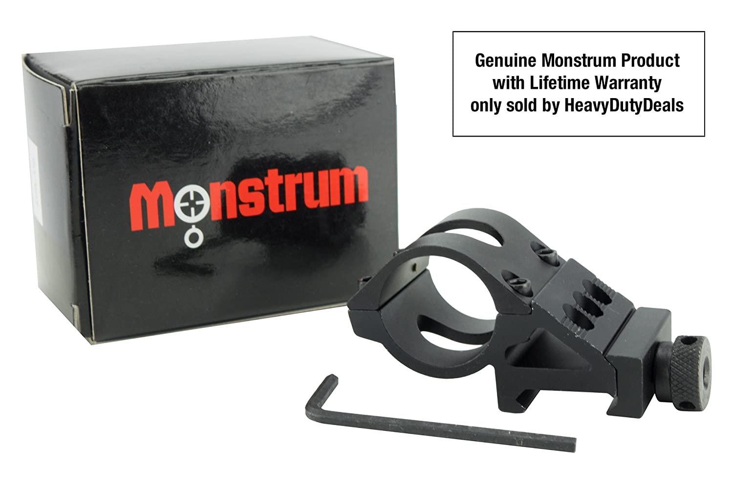 Monstrum tactical 1 offset picatinny rail mount for flashlights