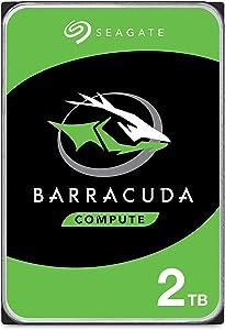Seagate BarraCuda 2TB Internal Hard Drive HDD – 3.5 Inch SATA 6 Gb/s 7200 RPM 64MB Cache for Computer Desktop PC Laptop (ST2000DM006)