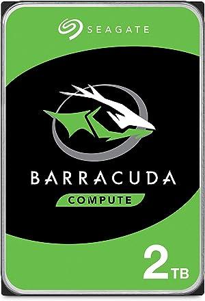 Seagate BarraCuda 2TB Internal Hard Drive HDD – 3.5 Inch SATA 6Gb/s 7200 RPM 256MB Cache 3.5-Inch – Frustration Free Packaging (ST2000DM008)