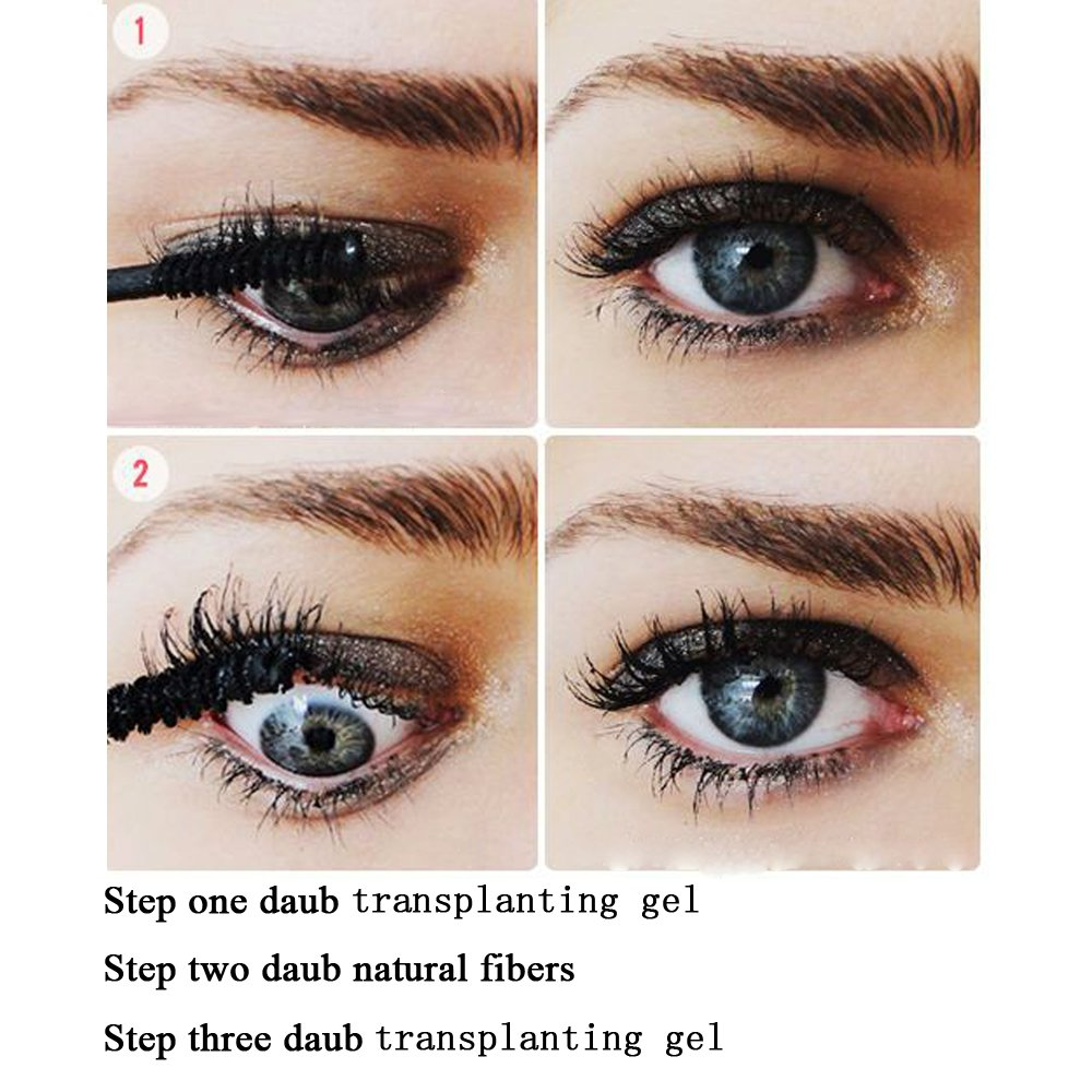 Youngfocus 3d fiber lash mascara-with fiber mascara 3d mascara thickening lengthening natural non-toxic smudge proof & hypoallergenic ingredients by youngfocus (Image #7)