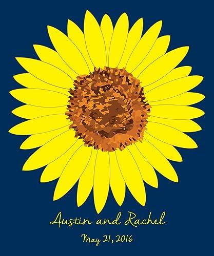 alternative sunflower wedding guest book guest book poster print bridal shower guest book