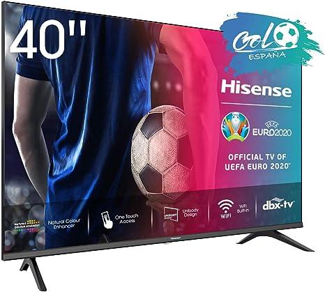 Hisense FHD TV 2020 40AE5500F - Smart TV Resolución Full HD, Natural Color Enhancer, Dolby Audio, Vidaa U 2.5 con IA, HDMI, USB, Salida auriculares: Amazon.es: Electrónica