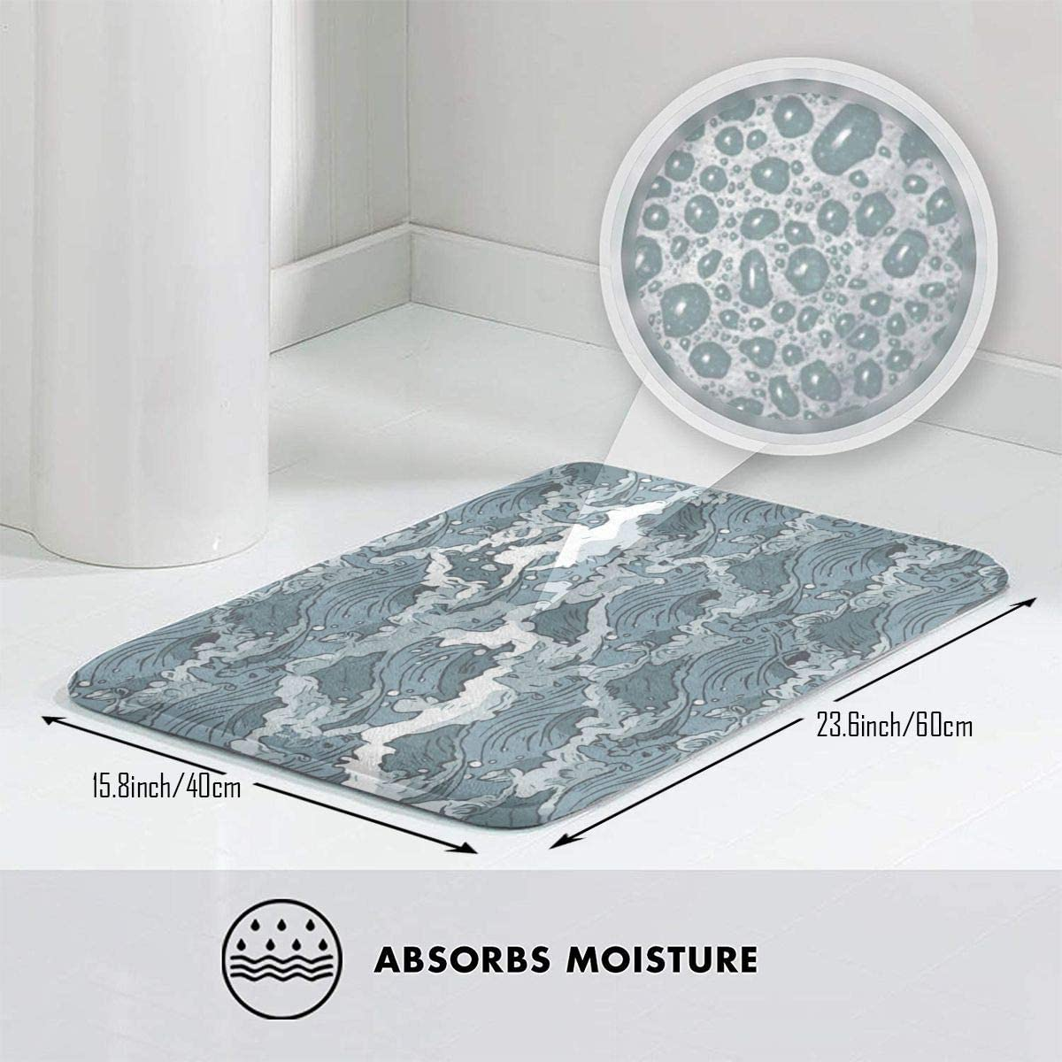 Kitchen Bath Bathroom Shower Floor Home Door Mat Rug Be Mermaid Make waves
