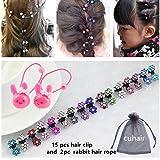 Cuhair (TM) Lot de 15 mini-pinces à cheveux fleurs accessoires pour cheveux et franges