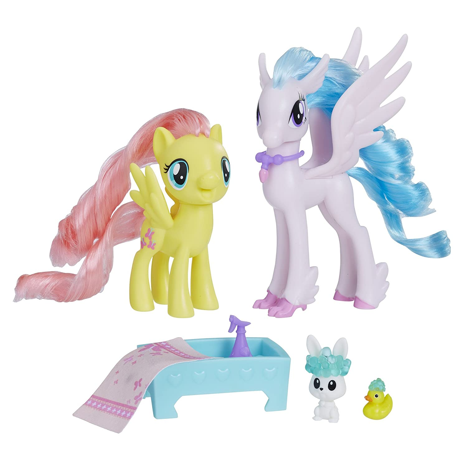 173e2b71afe Amazon.com  My Little Pony Fluttershy   Silverstream Kindness Lesson  Toys    Games
