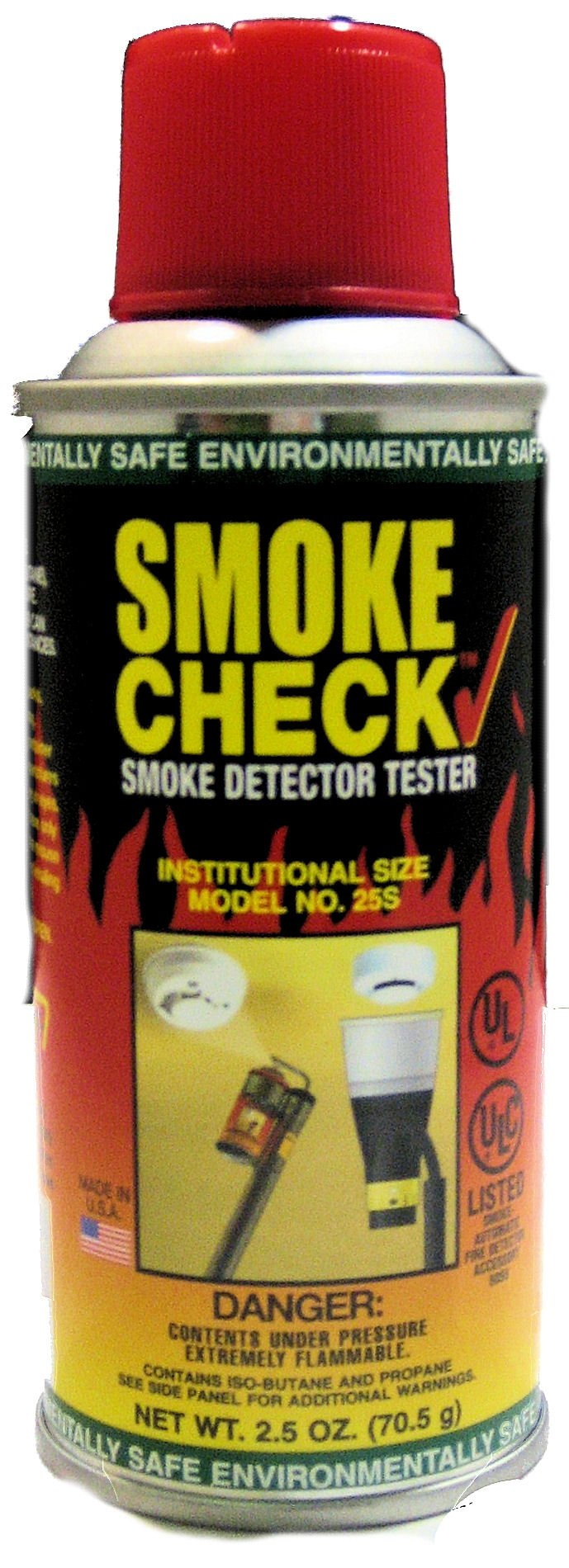 Home Safeguard 25S 2.5-Oz. Smoke Detector Tester Spray 12 Per Package by HSI Fire and Safety Group