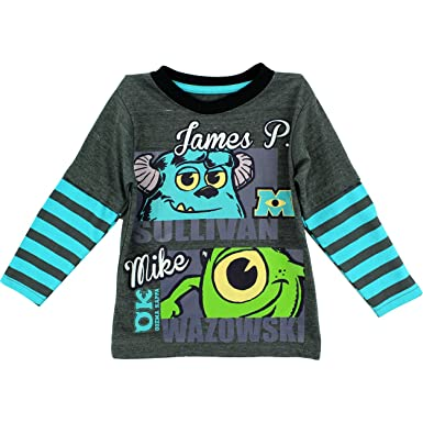 c1724cdf Disney Monsters Inc Sully & Mike Dark Grey Toddler Long Sleeve T-Shirt (2T