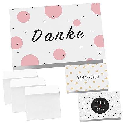 12 Dankeskarten Klappkarten Mit Umschlägen Dankeskarte Postkarte Danke Karte Danke Dankeschön Karten Danksagungskarten Hochzeit Karte Abschied
