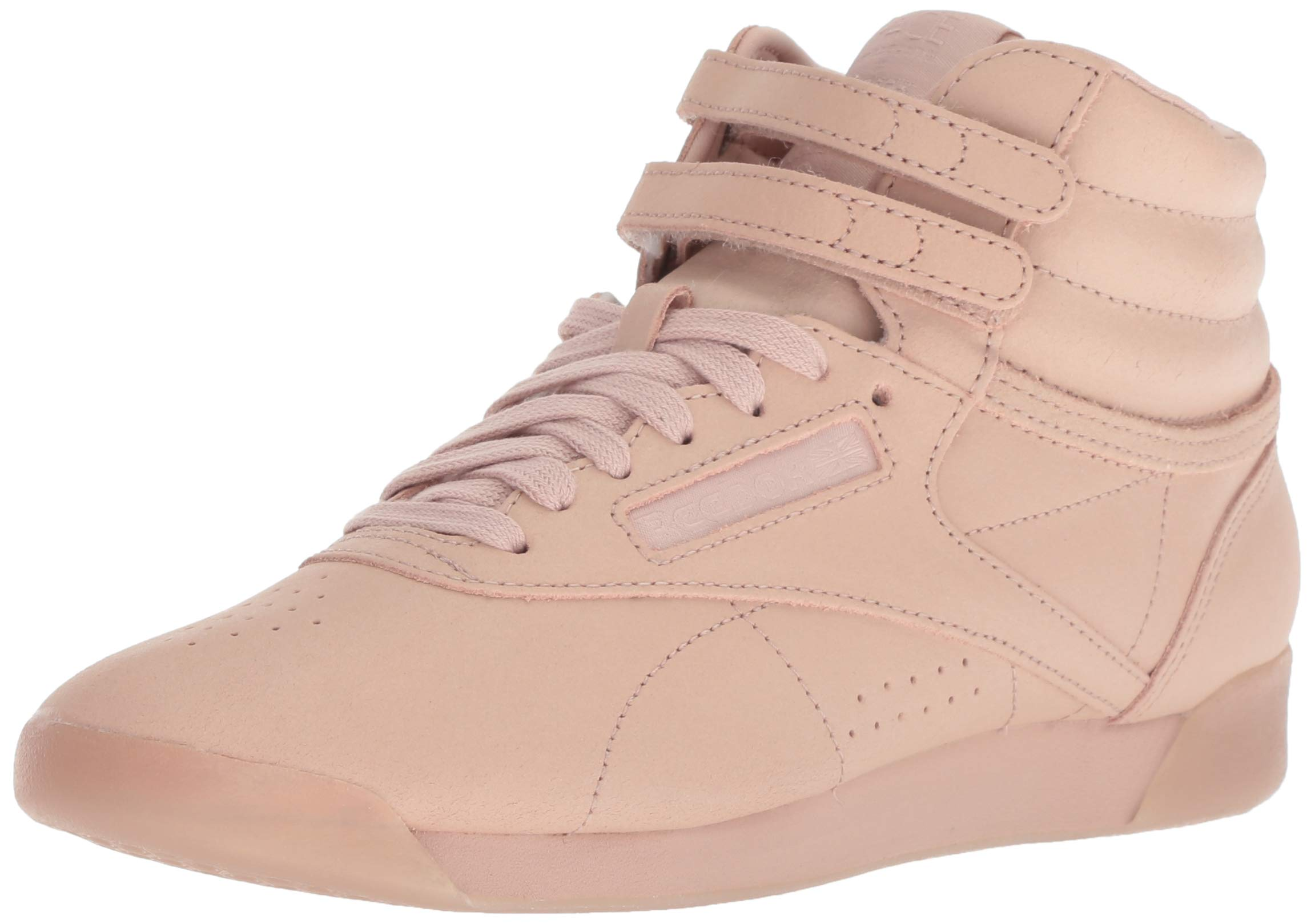 Reebok Women's Freestyle Hi Walking Shoe, face-Bare Beige/White, 9 M US