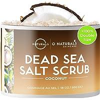 O Naturals Ultra Hydrating Exfoliating Coconut Oil Dead Sea Salt Body & Face Scrub. Skin Smoothing Anti Cellulite Treat…
