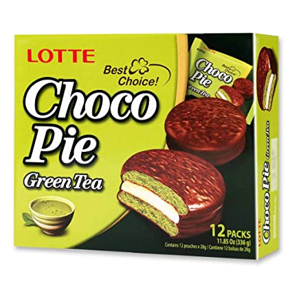 Lotte Choco pie Green Tea 12 individual pack