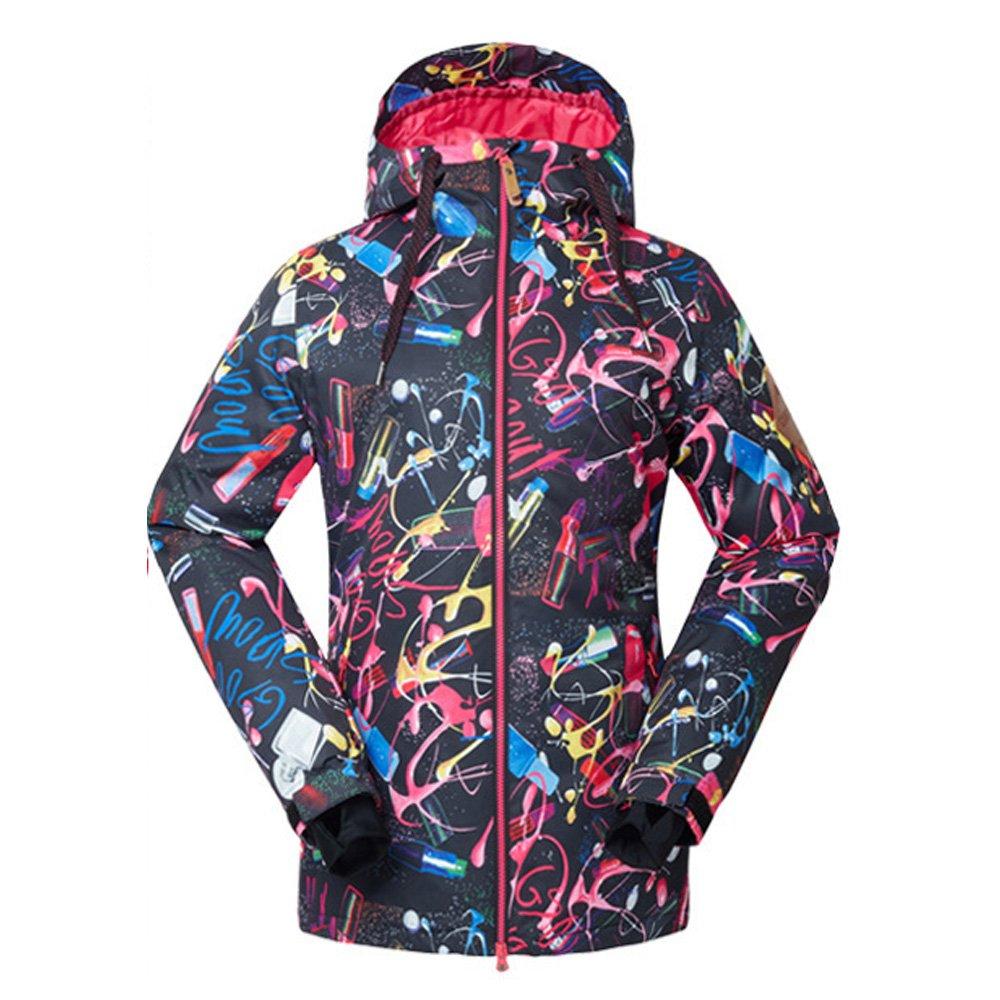 Wonny Damen 2 Teilig Skianzug Wasserdicht Schneeanzug Jacke und Hosen Unisex Skiset