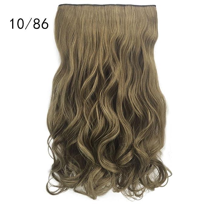 Peluca Mujer Pelo Natural Pelucas De Las Mujeres Pelucas Rizadas Largas Onduladas 1Pcs Cinco Clips Pelo Rizado Extension del Pelo Wigs Beladla: Amazon.es: ...