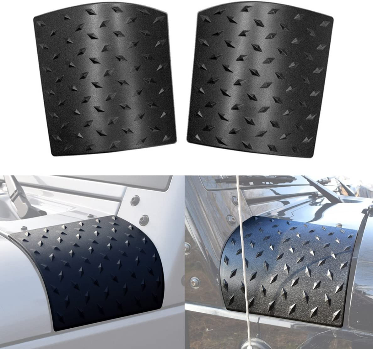 IBACP 1 Pair Cowl Body Armor Armor Cowling Cover for 2007-2017 Jeep Wrangler JK Unlimited 2//4 door style1