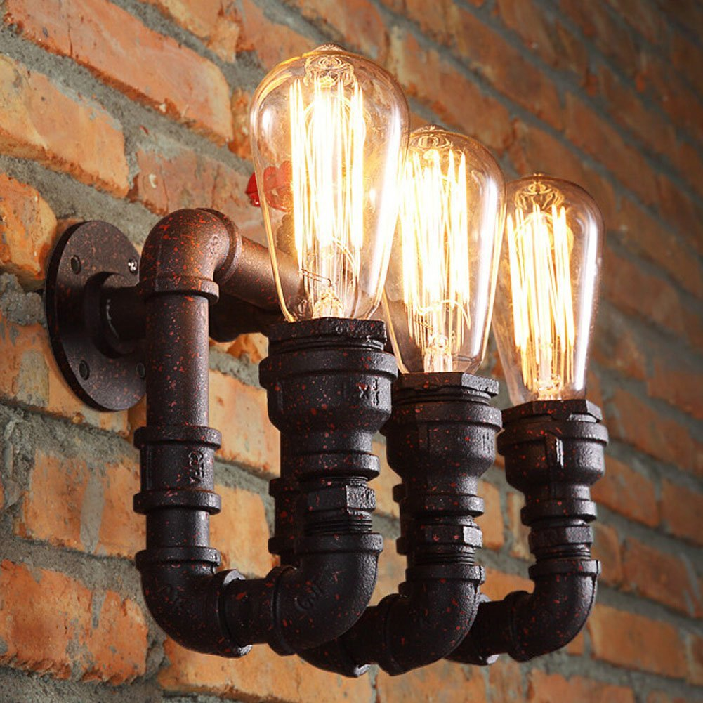 Amazon.com: Sanyi Vintage Water Pipe Wall Light Fixture Industrial ...