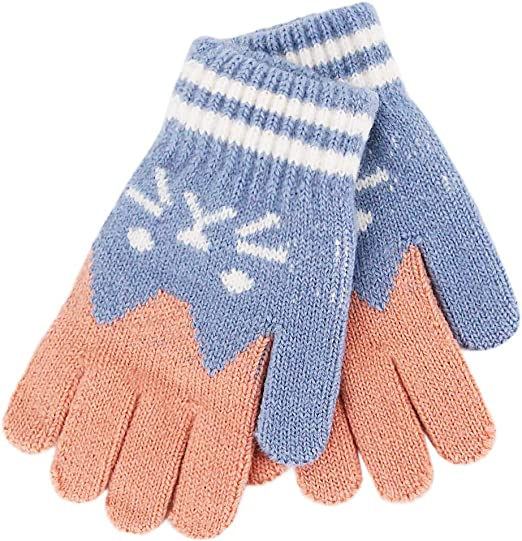Naimo Toddler Kids Children Cute Cat Mittens Full Fingers Gloves Knitted Warm Winter Gloves