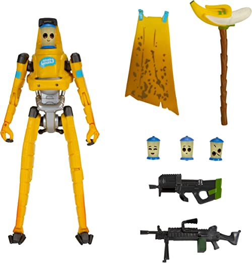 """Fortnite Legendary Series, P-1000, 1 Figure Pack - 6"""" Articulated Action Figure - Includes 4 Interchangeable Faces, 1 Harvesting Tool, 2 Weapons, 1 Back Bling - Collect Them All"""