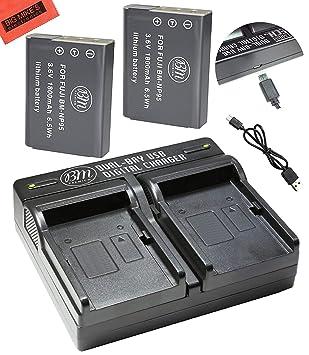 Amazon.com: BM Premium - Pack de 2 baterías NP-95, NP95 y ...
