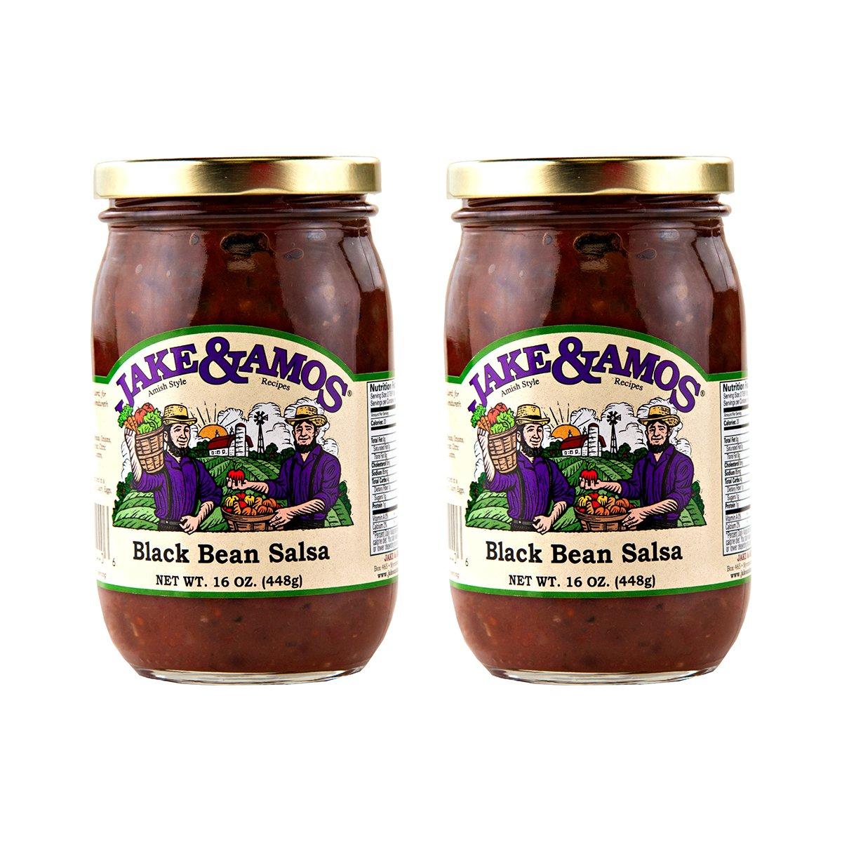 Jake & Amos Black Bean Salsa / 2 - 16 Oz. Jars by Jake & Amos