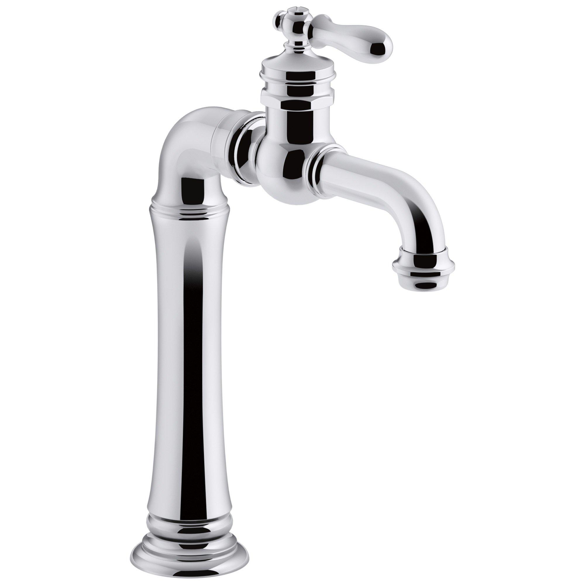 KOHLER K-99268-CP Artifacts Gentleman's Bar Sink Faucet, Polished Chrome, Single Handle, Prep Faucet, Secondary Faucet, Single Hole Installation, Entertainment Faucet by Kohler