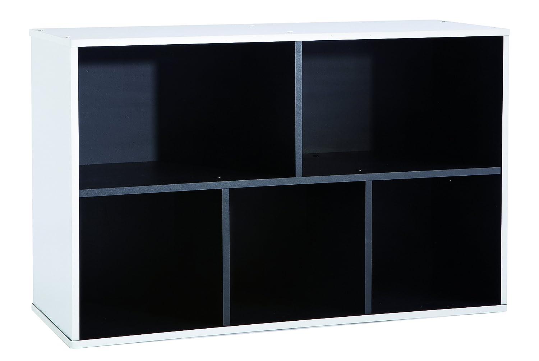Simply D18 Dim: 50,5x29,1x80,3 h cm Libreria Nero 13Casa Col: Bianco Mat: Truciolare.