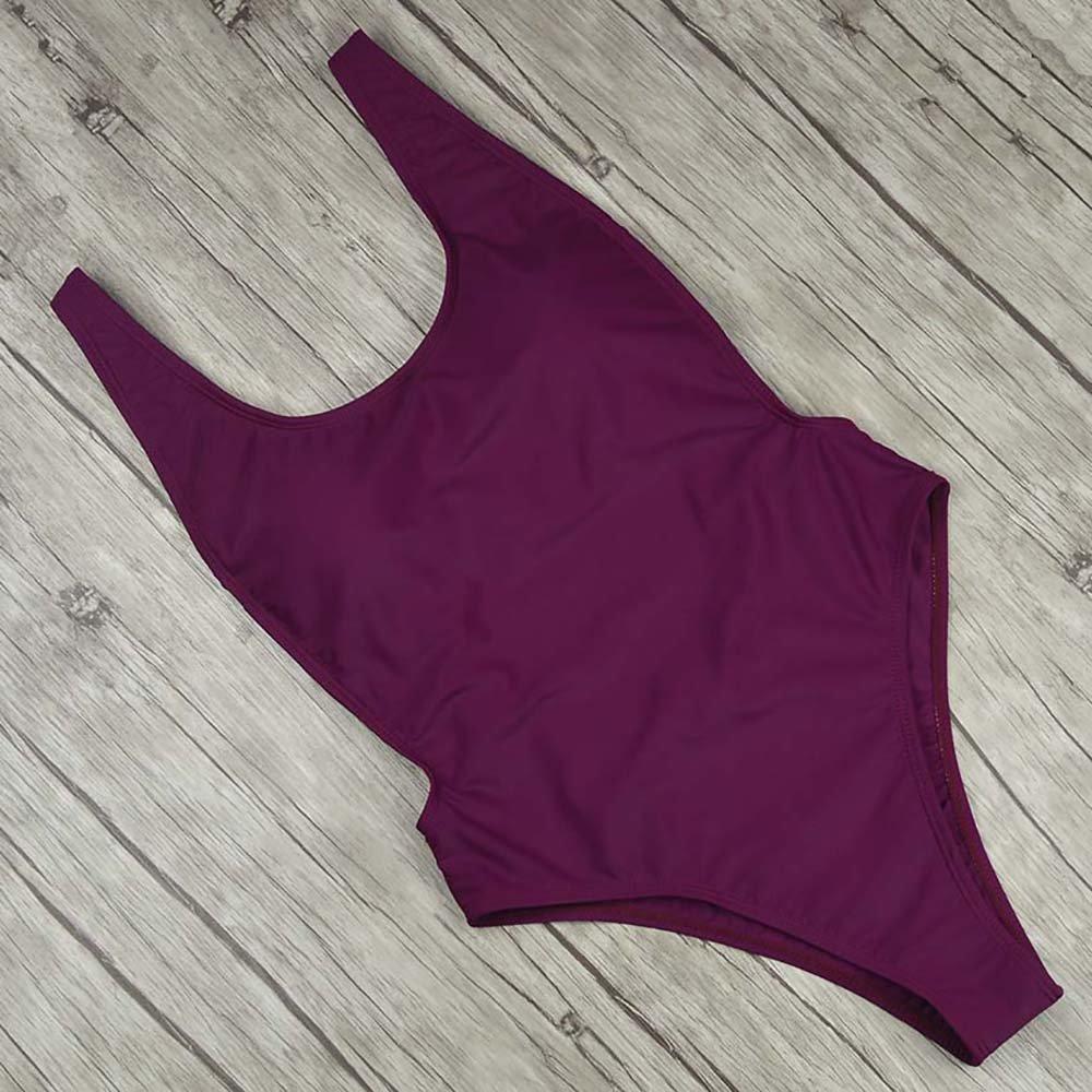 Bikini Para 7316 Baño Mujer De Verano De Una Pieza Traje Mono,Red,L ...