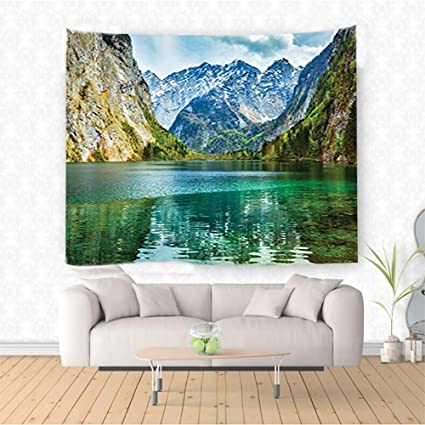 Amazon Com Nalahome Decor Collection Serenity Of Obersee Mountain