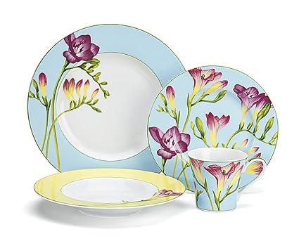 Amazon.com: Cuisinart CDP01-S4T Tille Collection 16-Piece Porcelain ...