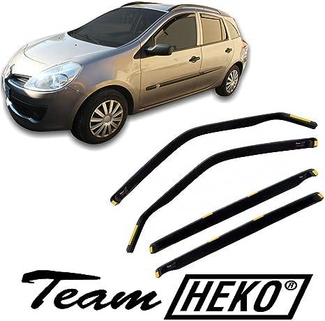 pr/és 4 pcs Deflecteurs dair D/éflecteurs de Vent Compatible avec Renault Clio IV GRANDTOUR 2012 J/&J AUTOMOTIVE