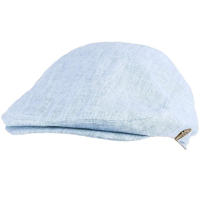 Men s Summer 100% Linen Front Snap Flat Golf Ivy Driving Cap Hat at Amazon  Men s Clothing store  ffc64640e527