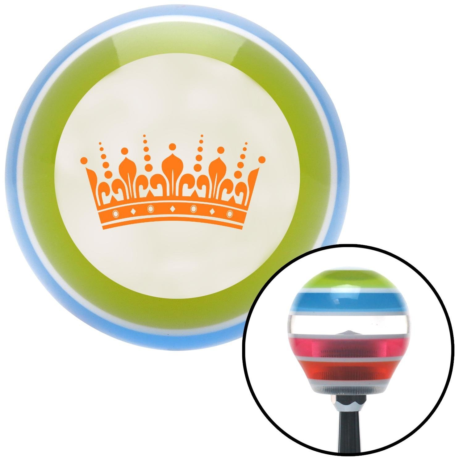 Orange Kings Crown American Shifter 132149 Stripe Shift Knob with M16 x 1.5 Insert