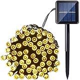 WUUDI LEDソーラー ストリングライト LED ソーラー イルミネーション 100球 バブル型 クリスマス ハロウィン USB充電も可能 結婚式/祝日/お庭/お祭り/パーティー