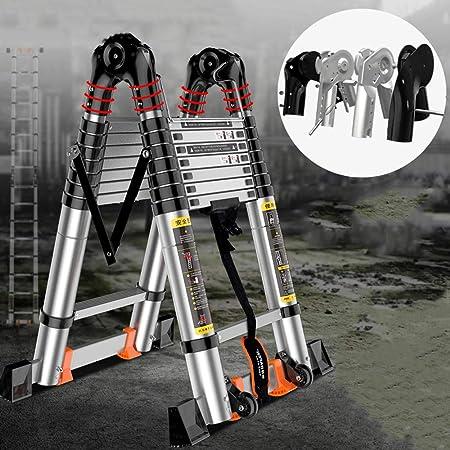 MC-BLL-ladder Escalera retráctil escaleras Escalera Plegable para el hogar escaleras Elevadoras Escalera de ingeniería de aleación de Aluminio Grueso Escalera doméstica: Amazon.es: Hogar