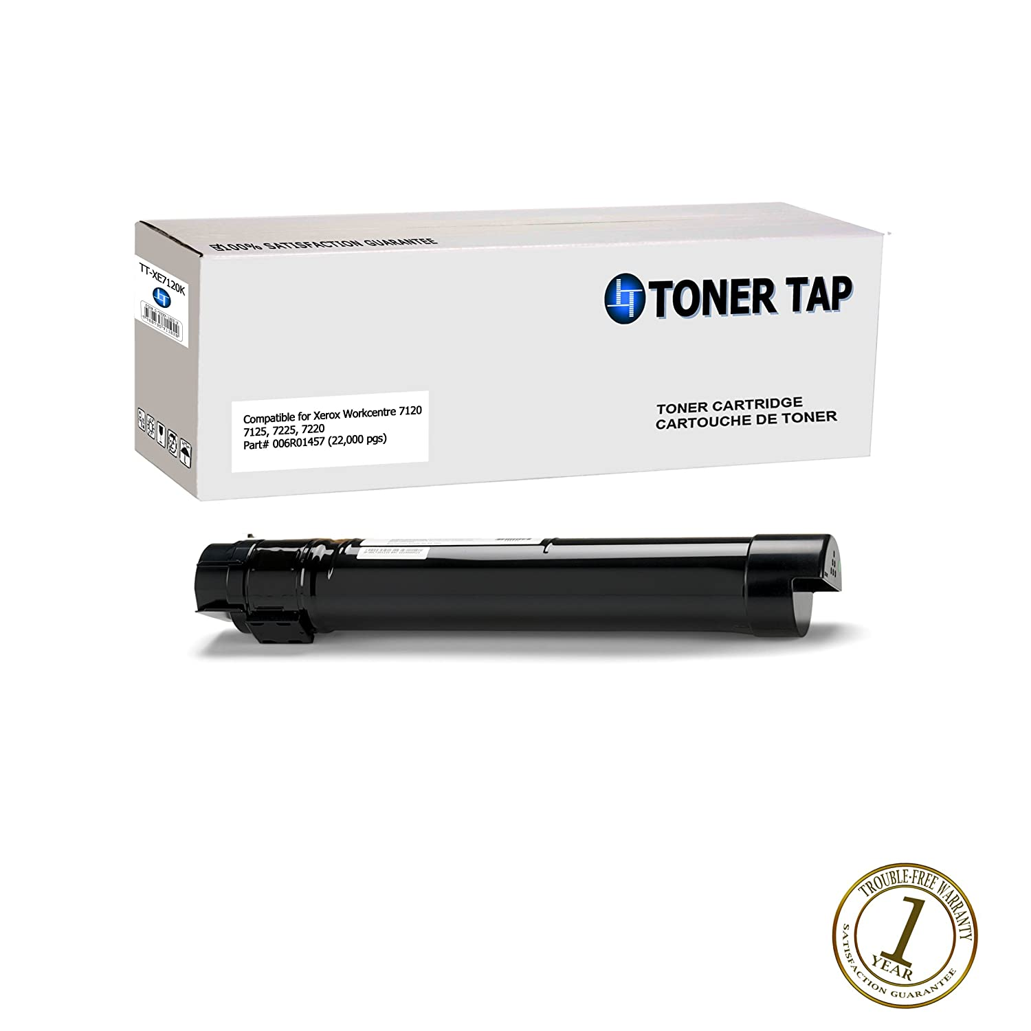 Amazon com toner tap compatibles for xerox workcentre 7120 7125 7225 7220 006r01460 006r01459 006r01458 006r01457 value pack full set bcmy