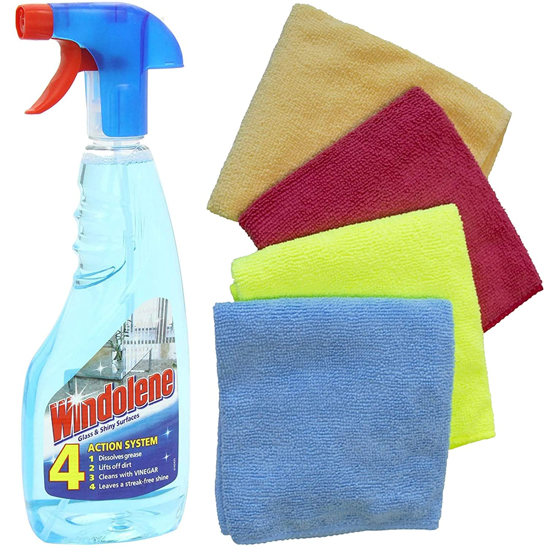 Windolene - Spray de limpieza para superficies (500 ml, 4 paños de ...