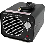 Clevr 6000mg/h Commercial Ozone Generator, Industrial O3 Air Ionizer Sterilizer Purifier Deodorizer, 1 Year Limited Warranty | Allergies allergen Reducer | Best for Odor Stop Control Clean Air