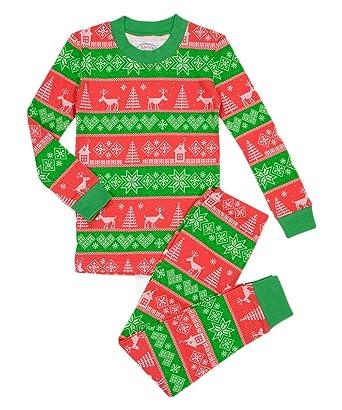 Amazon.com: Sara's Prints Big Boys' Fair Isle Long John Pajamas ...