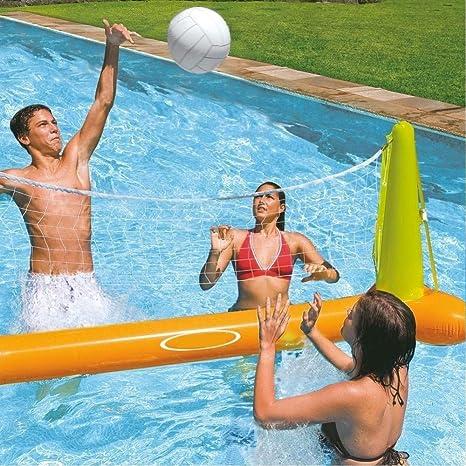 Trade Shop traesio Juego Volleyball Voleibol Red Hinchable y balón ...