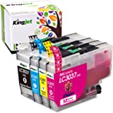 Kingjet Compatible Ink Cartridge Replacement for Brother LC3037, LC3037XXL Work with MFC-J5845DW, MFC-J5845DWXL, MFC…