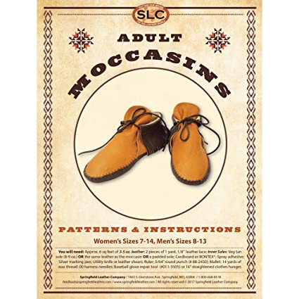 Amazon Adult Moccasin Pattern Pack
