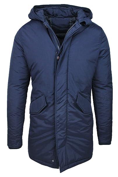 buy popular 0dc95 54e6f Evoga Parka Uomo Invernale Cappotto Giacca Casual Slim Fit Impermeabile