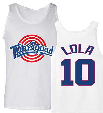 1c72b3912f3b Amazon.com   The Silo Tunesquad Lola Bunny Tank Top Jersey   Sports ...