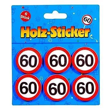 Preis Am Stiel 1 X Geburtstags Sticker Aus Holz 60 60 Geburtstag