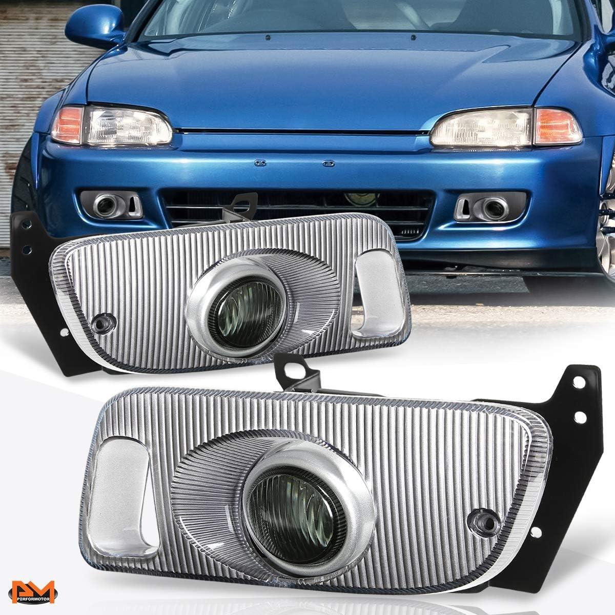 06-08 For Honda Civic Yellow Lens Pair Bumper Fog Light Lamp+Wiring+Switch Kit